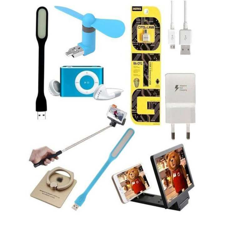 Jambo Pack 10 IN 1 DEAL HiTech  Mobile Accessories