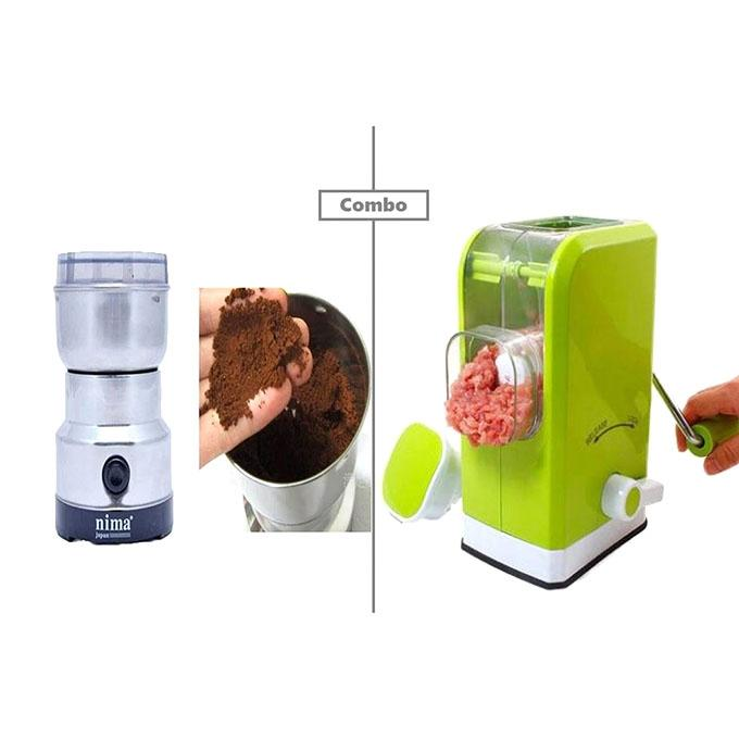 Meat Grinder and Nima Combo - Green and Silver