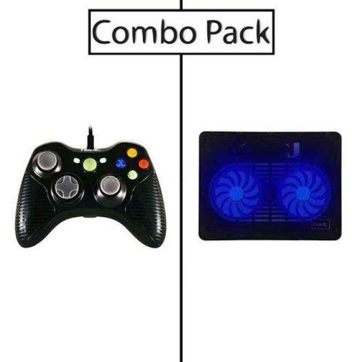 Combo of HV-G83 Single Gamepad and HV-F2035 Cooling Pad