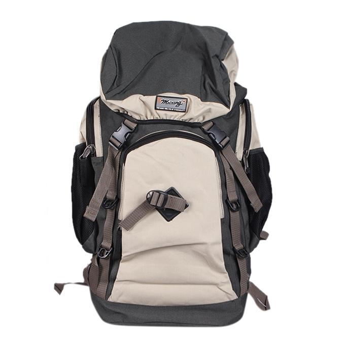 Gray and Beige Polyester Backpack For Men