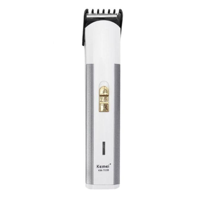 KM-702B Stylish Rechargeable Electric Hair Trimmer - White