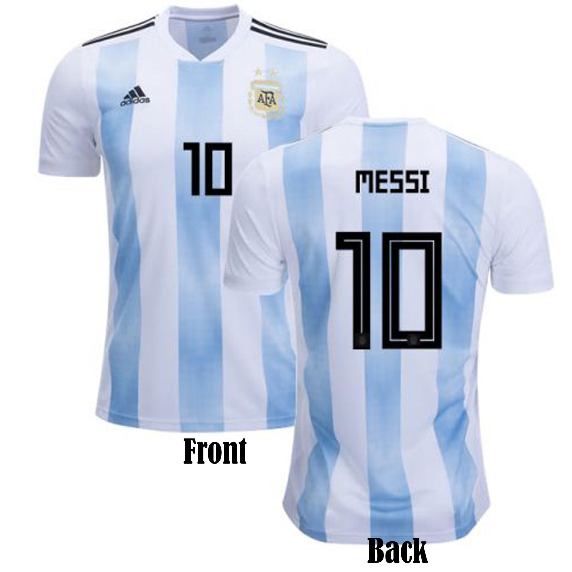 35c86d4d58e Messi 10 Short Sleeve Argentina Home Jersey - Semi-Premium Quality- 150 GSM
