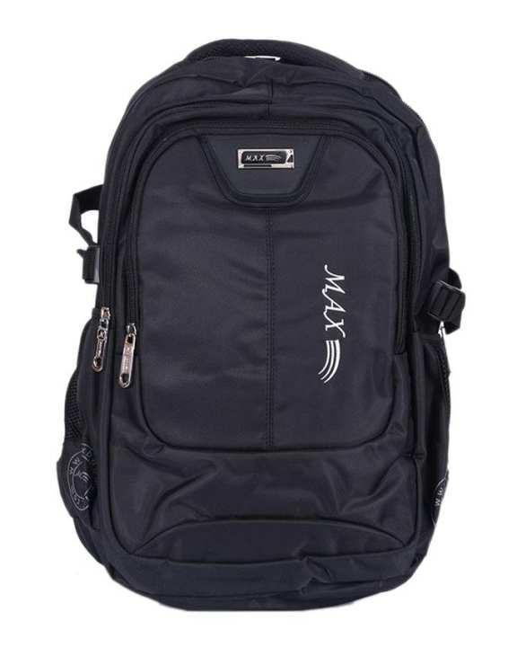 Leather Backpack For Men - Black