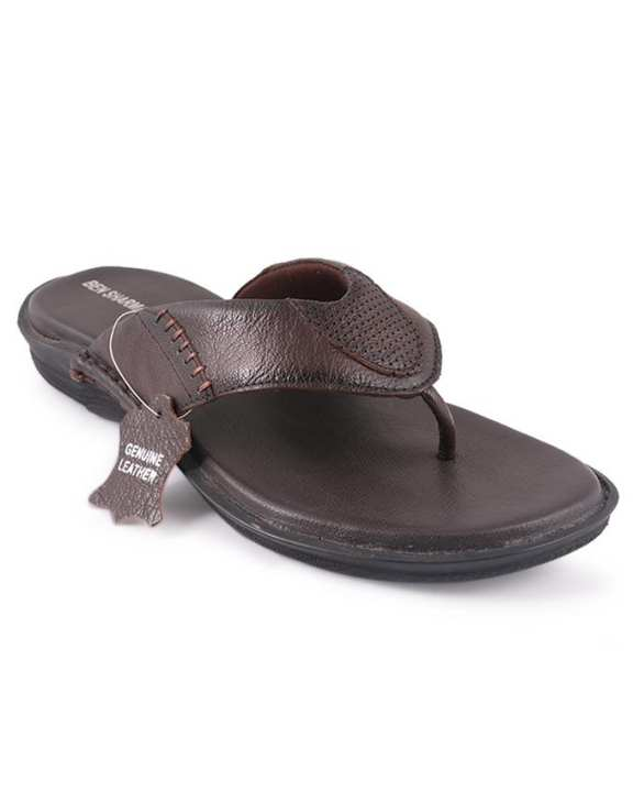 Ben Sharman Leather Casual Sandal For Men - Brown