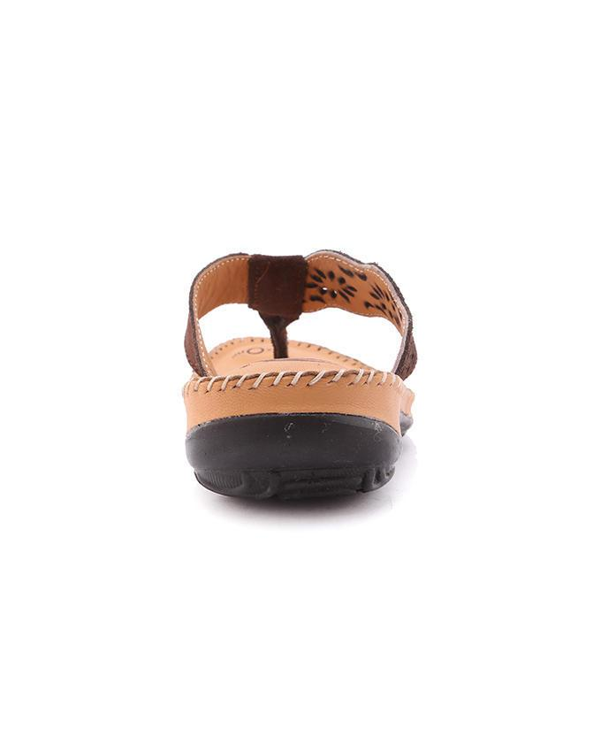Dr.Mauch PU Casual Flat Sandals - Chocolate and Brown