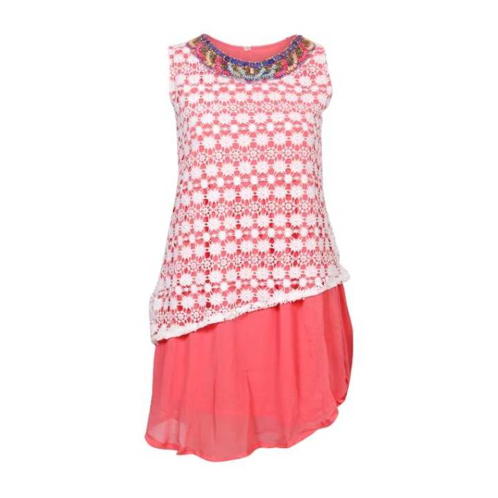 Coral Indian Tops For Girls