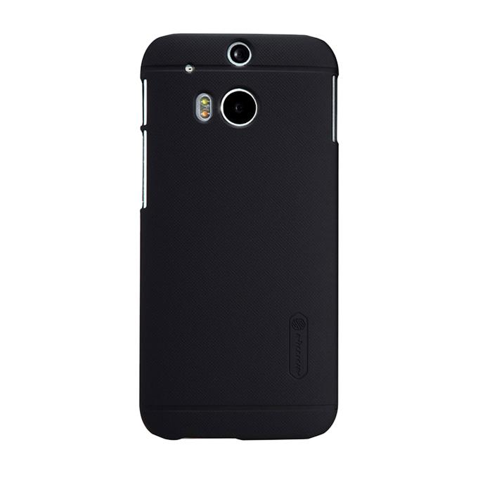Super Frosted Shield Back Cover for HTC New One(M8) - Black