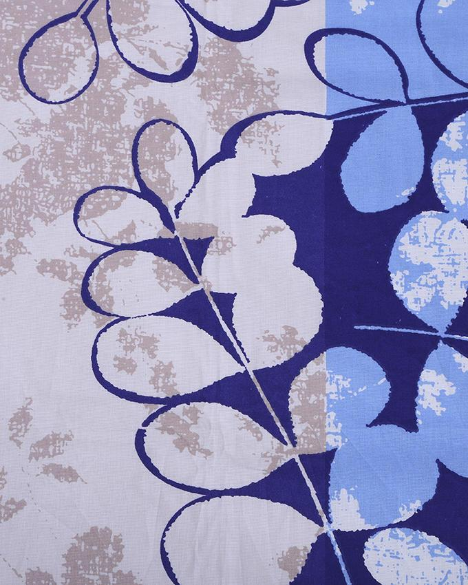 Cotton Printed Bed Sheet - Blue and Pink