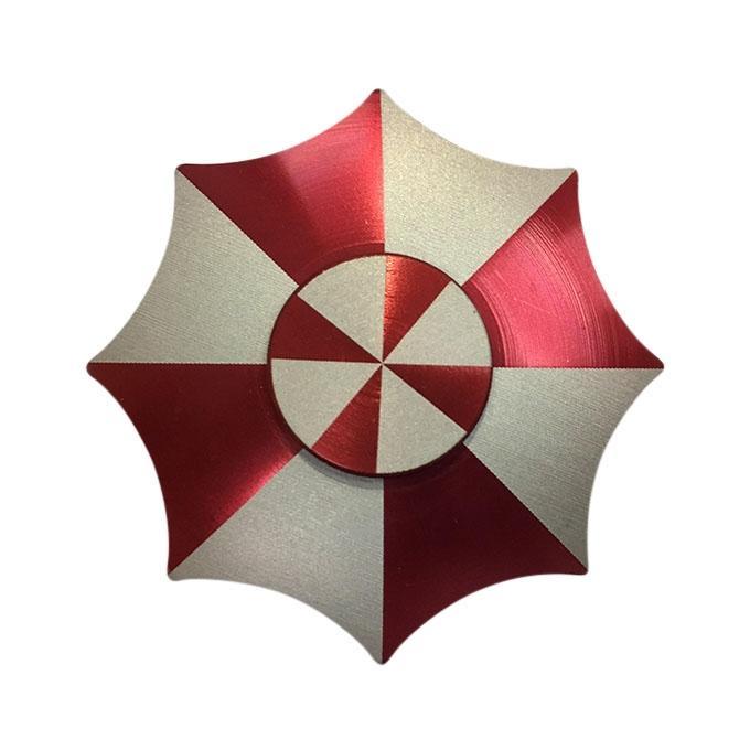 Umbrella Shaped Red Round Fidget Spinner
