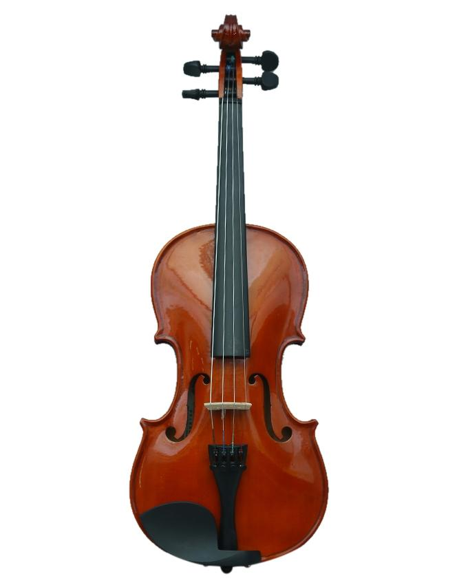 4/4 MV300 Solid Wood Satin Antique Violin with Hard Case Bow and Rosin - Brown