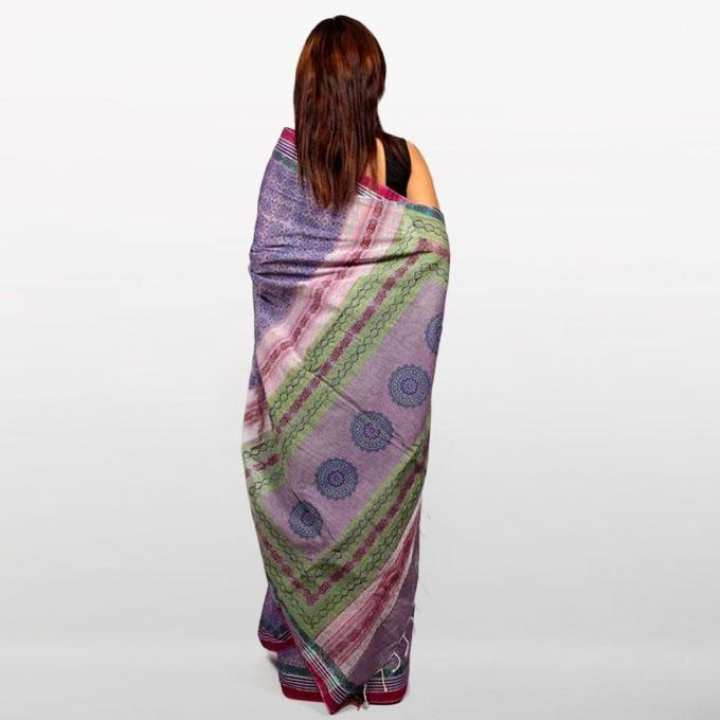 Purple Cotton Saree For Women