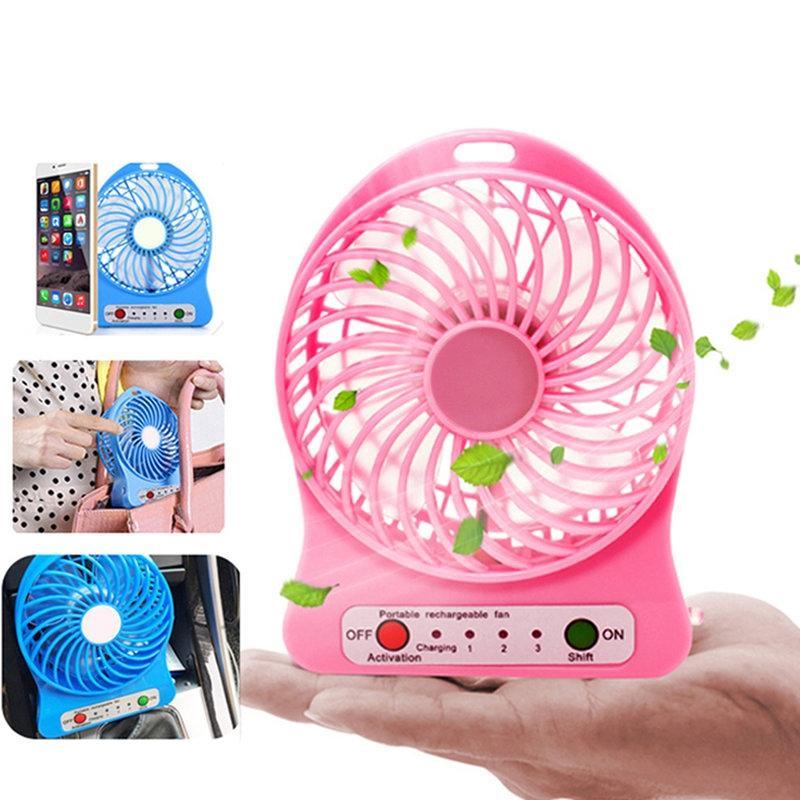 Rechargeable Mini Fan – Pink