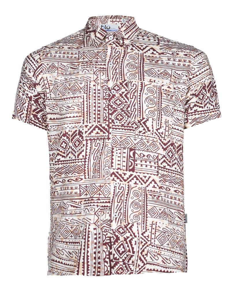 Viscose Casual Short Sleeve Shirt - Berry Print