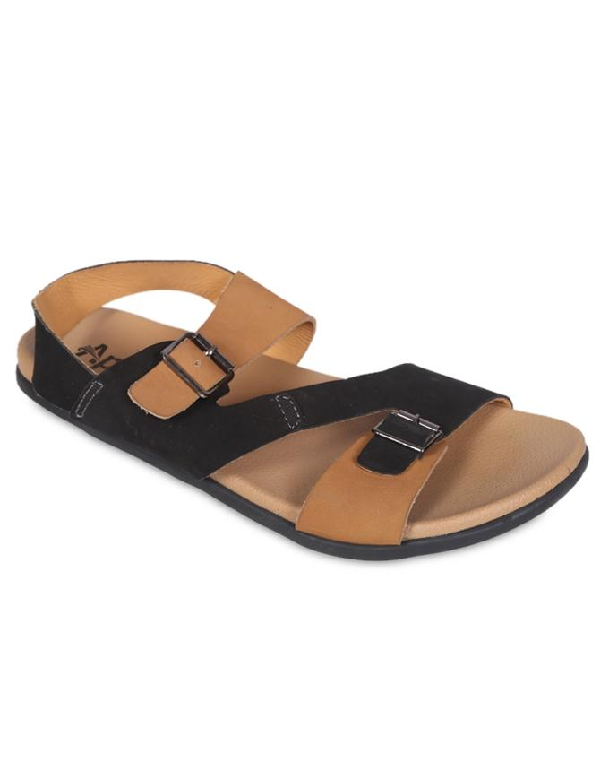 Beige Smooth Leather Casual Sandal for Men