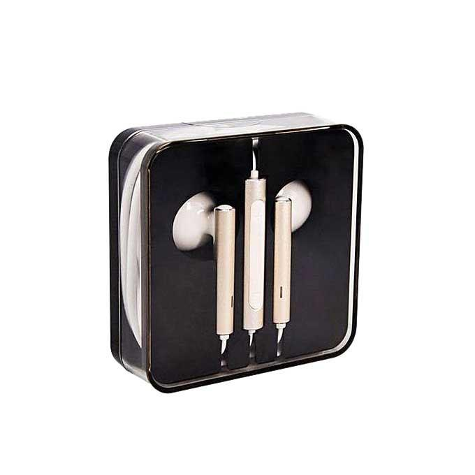 Stereo Earphones with Mic and Remote - White