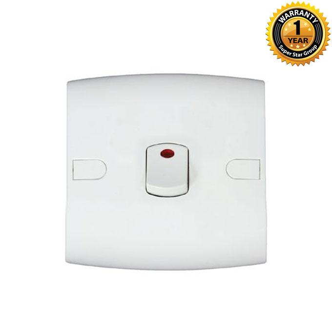 Safe Series Safe DP Switch With Neon - White