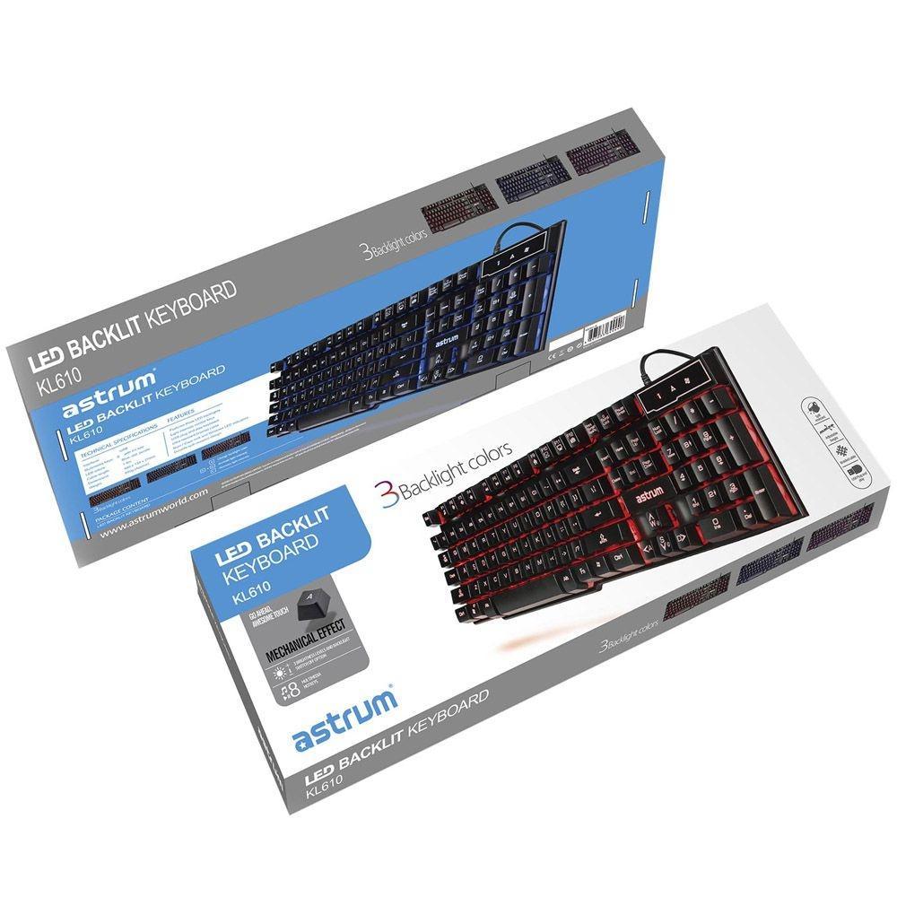 Light Emitting Gaming Keyboard KL610 - Black