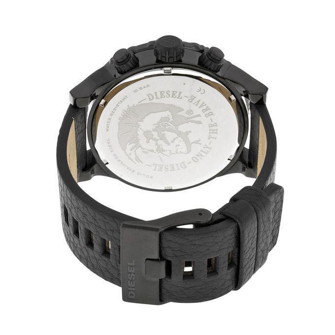 DZ4327 Leather Analog Chronograph Watch for Men - Black