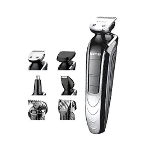 Kemei KM-1832 Waterproof Electric Trimmer - Black and Silver