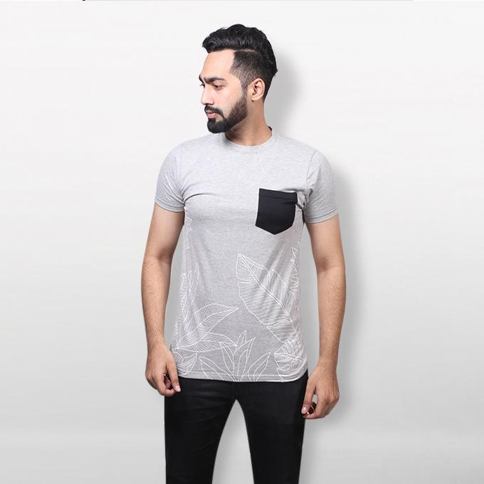 Ash Cotton T-shirt For Men