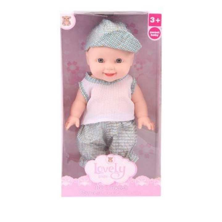 Plastic Baby Doll - Cornsilk and Blue