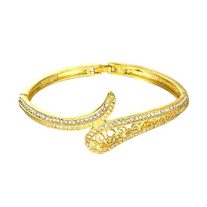 Golden Rhinestone Bracelet for Women