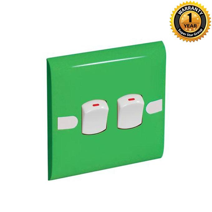 Color Slim Series Color Slim Two Gang One Way Switch – Lime
