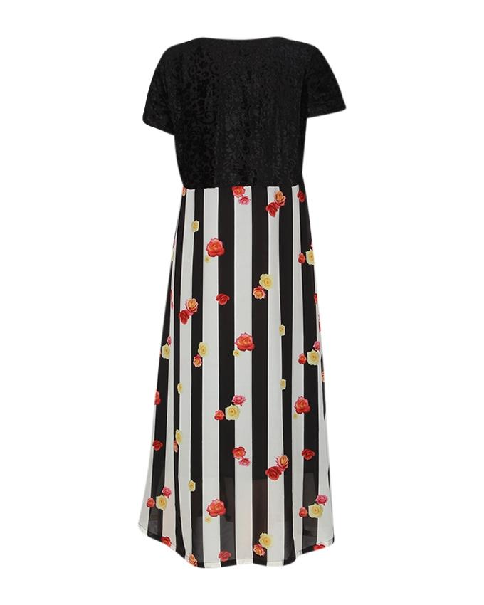 Multi Color Georgette Gown For Women