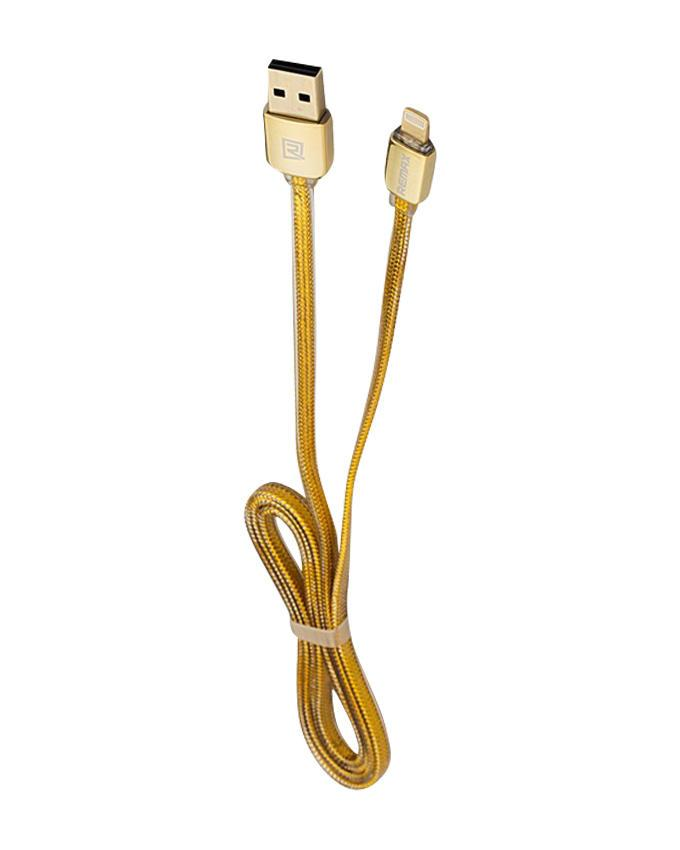 Gold Two Side micro USB Data Cable  - Gold