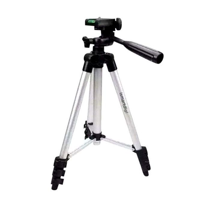 3110 Aluminum Alloy Tripod For Camera and Mobile - Silver and Black