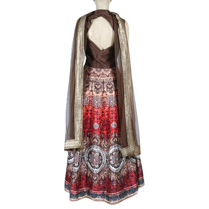 Georgette Casual Long Dress for Women - Multicolor Printed