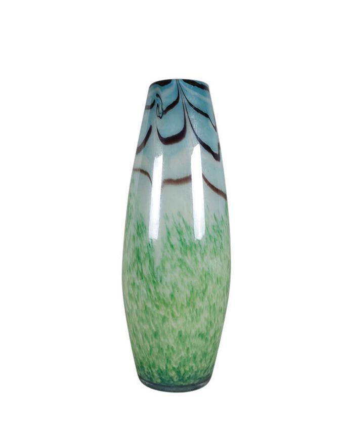 Glass Vase - Off White and Light Green