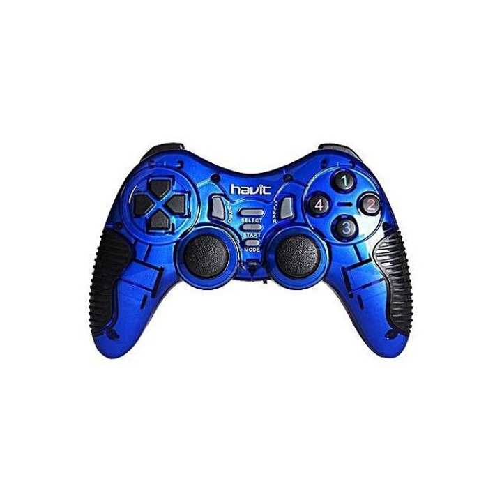 HV-G89W Wired Gamepad Controller for PC/PS2/PS3 - Blue