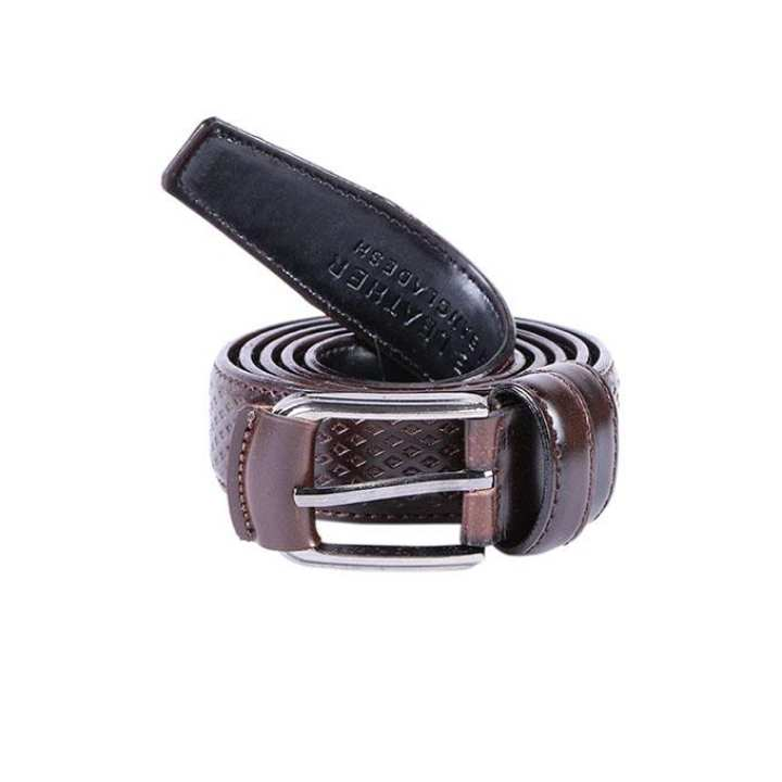 Dark Chocolate Leather Casual Belt For Men
