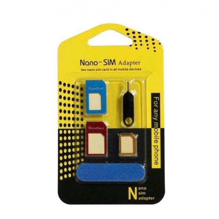 Nano Sim Card Adapter - Multi Color
