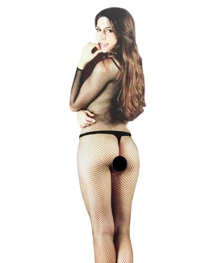 Black Moze Sexy Fishnet Body-Stockings