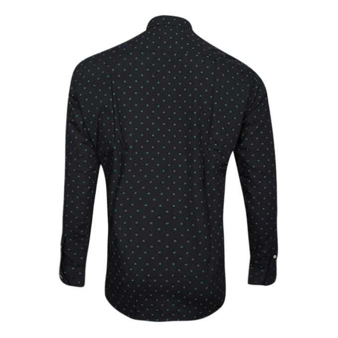 Printed Black  Cotton Long Sleeve Casual Shirt For Men
