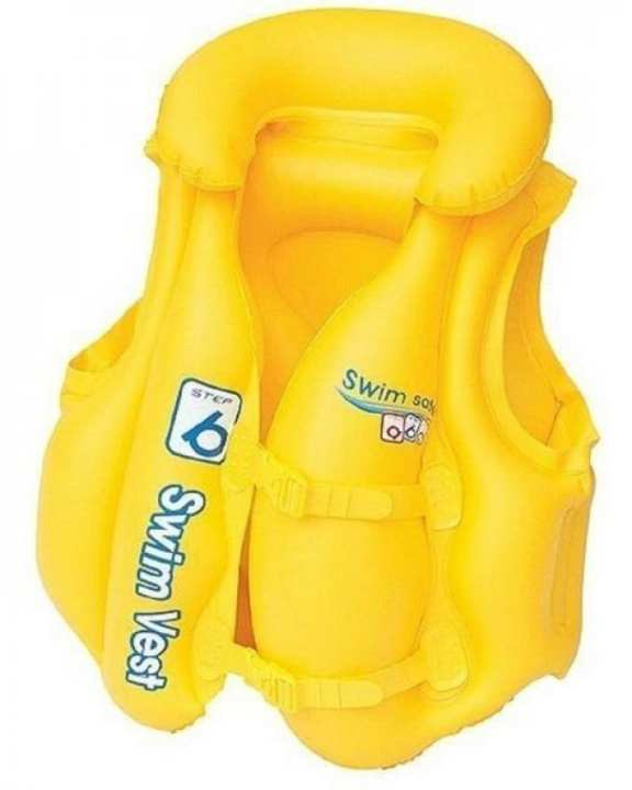 Inflatable Life Jacket For Kids - Yellow