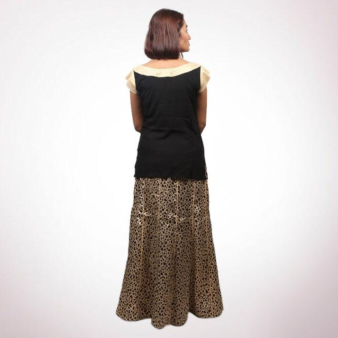Black Linen Skirt For Women