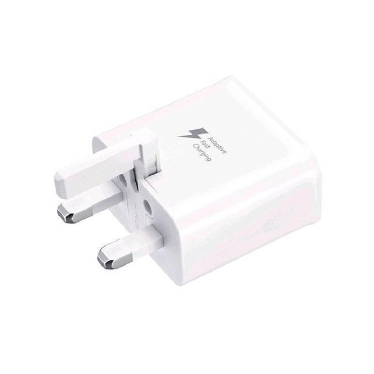 3 Pin Fast Charger with Micro USB 2.0 Cable - White