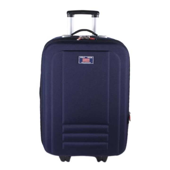 Polyester Trolly Bag For Women - Navy Blue