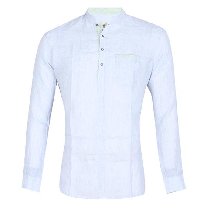 Light Sky Blue Cotton Shirt For Men