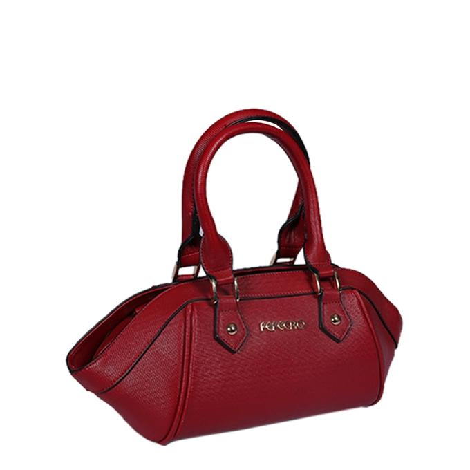 Artificial Leather Hand Bag For Women - Maroon