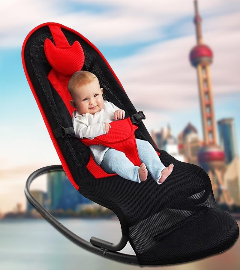 Mother & Kids 2 Colors Premium Baby Rocking Chair With Adjustable Angle And Safety Belt Activity & Gear
