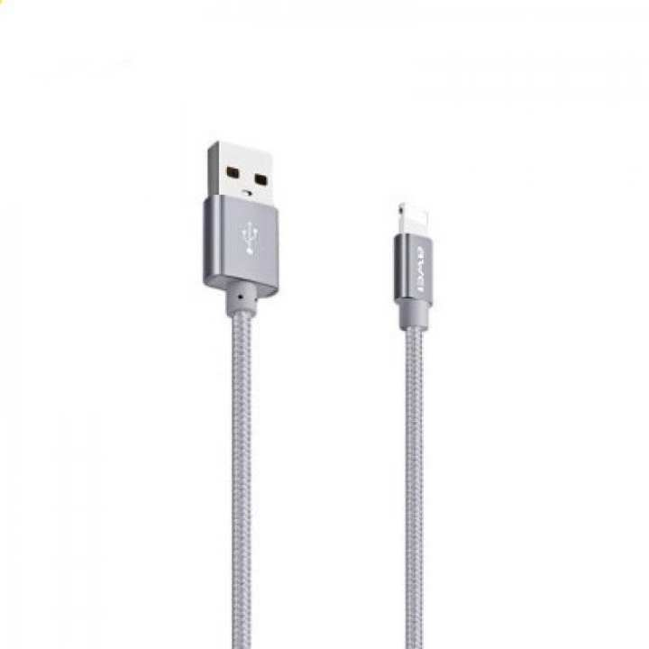 Awei Lightening Short Fast Charging Data Cable for iphone - Grey