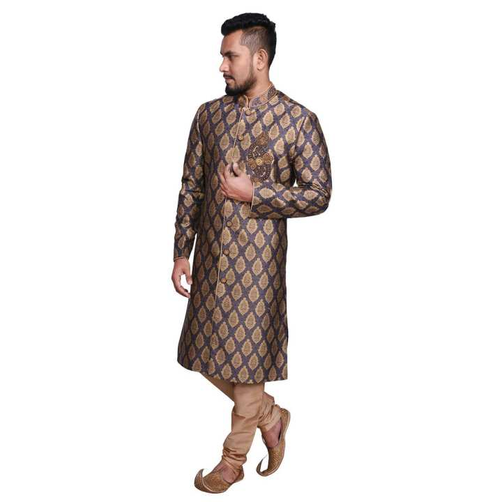 Cotton and Synthetic Sherwani for Men