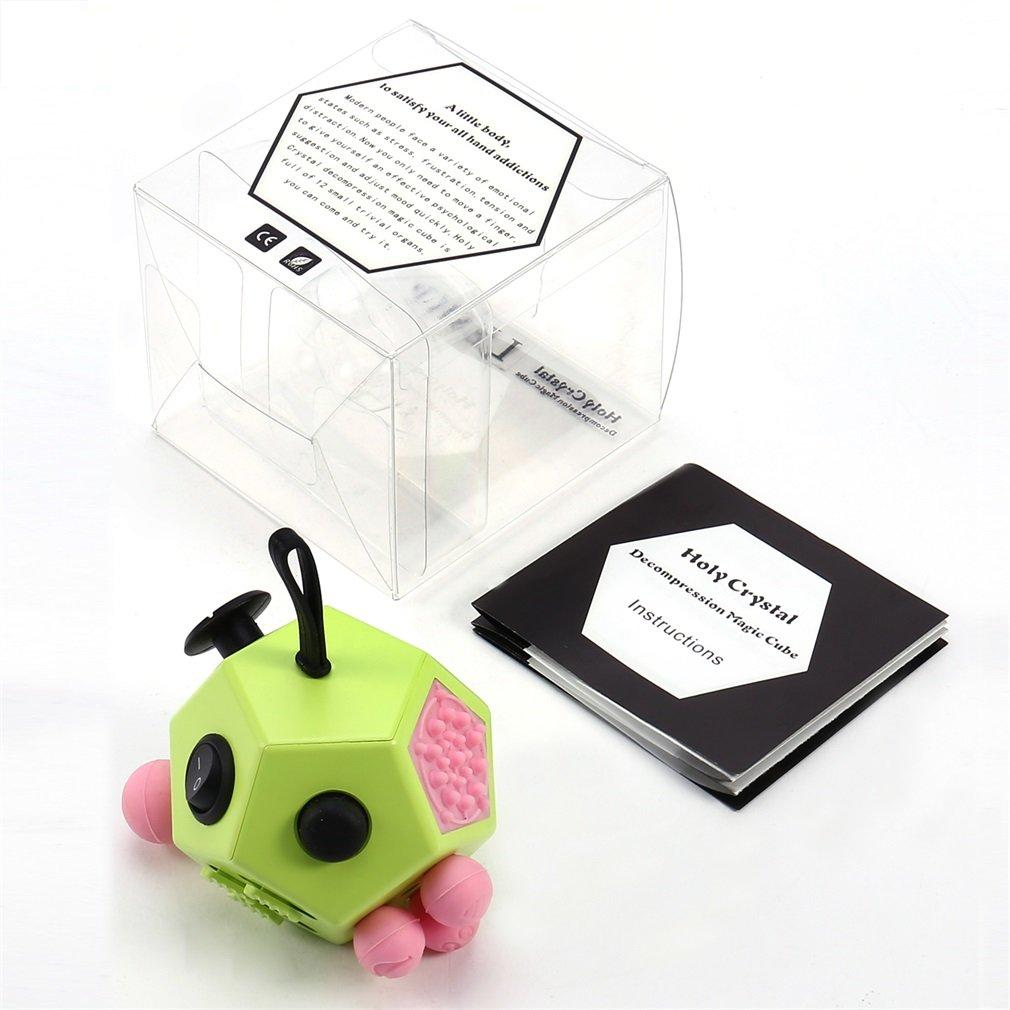 LESHP Dice 12 Sides Anti-anxiety and Holy Crystal Depression Magic Cube Toys