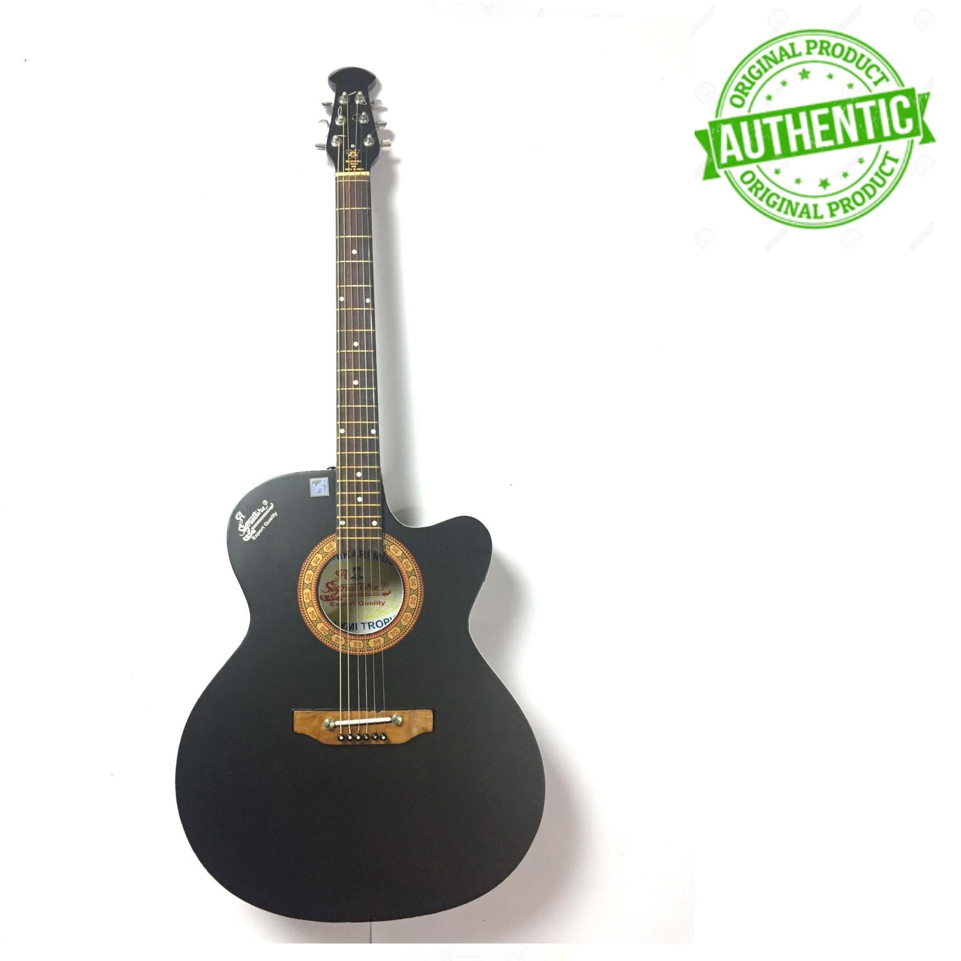 Signature New Acoustic Guitar With Electric Output - Black