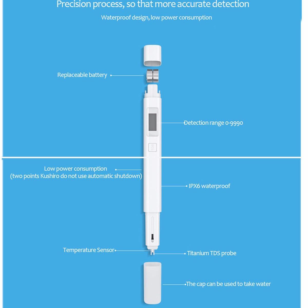 Original Xiaomi TDS meter tester Pen Digital Water Meter Measuring Water  Quality