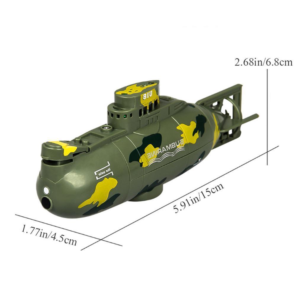 Mini Submarine Ship Model Remote Control Waterproof BoatToy Diving Suitable  For Small Aquarium Swimming Pool Lake